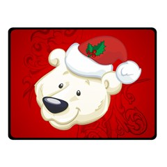 Funny Polar Bear Double Sided Fleece Blanket (small)