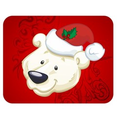 Funny Polar Bear Double Sided Flano Blanket (medium)