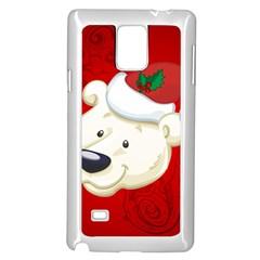 Funny Polar Bear Samsung Galaxy Note 4 Case (White)