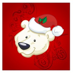 Funny Polar Bear Large Satin Scarf (square)