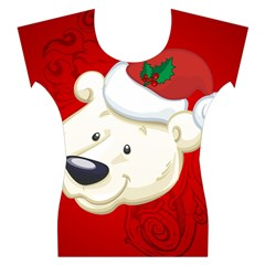 Funny Polar Bear Women s Cap Sleeve Top
