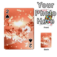 Amazing Flowers With Dragonflies Playing Cards 54 Designs
