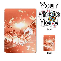 Amazing Flowers With Dragonflies Multi-purpose Cards (Rectangle)