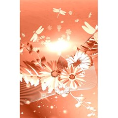 Amazing Flowers With Dragonflies 5 5  X 8 5  Notebooks