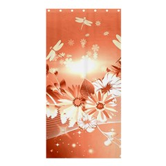 Amazing Flowers With Dragonflies Shower Curtain 36  X 72  (stall)
