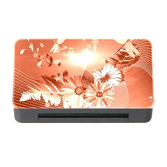 Amazing Flowers With Dragonflies Memory Card Reader with CF
