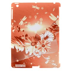 Amazing Flowers With Dragonflies Apple iPad 3/4 Hardshell Case (Compatible with Smart Cover)
