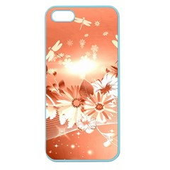 Amazing Flowers With Dragonflies Apple Seamless iPhone 5 Case (Color)