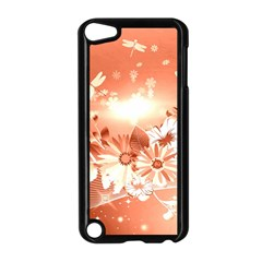 Amazing Flowers With Dragonflies Apple iPod Touch 5 Case (Black)