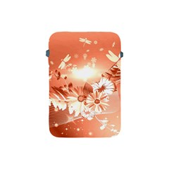 Amazing Flowers With Dragonflies Apple iPad Mini Protective Soft Cases