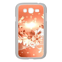 Amazing Flowers With Dragonflies Samsung Galaxy Grand DUOS I9082 Case (White)