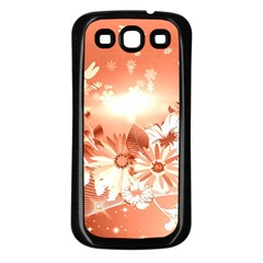 Amazing Flowers With Dragonflies Samsung Galaxy S3 Back Case (Black)