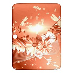 Amazing Flowers With Dragonflies Samsung Galaxy Tab 3 (10.1 ) P5200 Hardshell Case