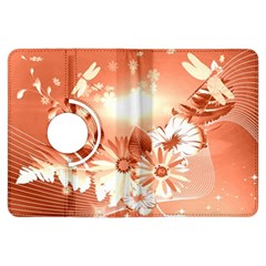Amazing Flowers With Dragonflies Kindle Fire HDX Flip 360 Case