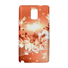 Amazing Flowers With Dragonflies Samsung Galaxy Note 4 Hardshell Case