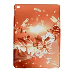 Amazing Flowers With Dragonflies iPad Air 2 Hardshell Cases