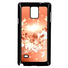 Amazing Flowers With Dragonflies Samsung Galaxy Note 4 Case (black)