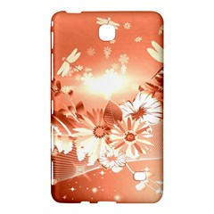 Amazing Flowers With Dragonflies Samsung Galaxy Tab 4 (8 ) Hardshell Case