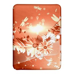 Amazing Flowers With Dragonflies Samsung Galaxy Tab 4 (10.1 ) Hardshell Case