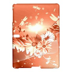 Amazing Flowers With Dragonflies Samsung Galaxy Tab S (10.5 ) Hardshell Case