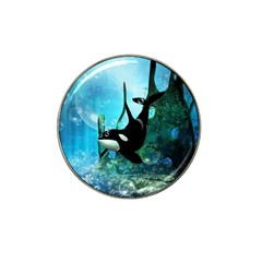Orca Swimming In A Fantasy World Hat Clip Ball Marker (4 Pack)