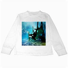 Orca Swimming In A Fantasy World Kids Long Sleeve T Shirts