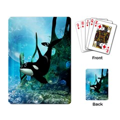 Orca Swimming In A Fantasy World Playing Card