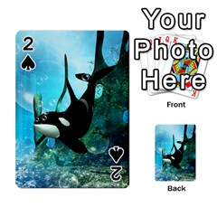 Orca Swimming In A Fantasy World Playing Cards 54 Designs