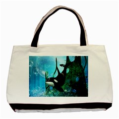 Orca Swimming In A Fantasy World Basic Tote Bag