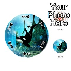 Orca Swimming In A Fantasy World Playing Cards 54 (Round)