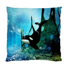 Orca Swimming In A Fantasy World Standard Cushion Case (One Side)