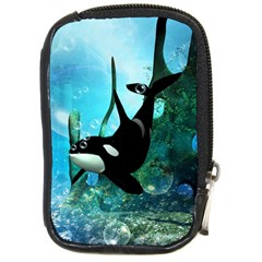Orca Swimming In A Fantasy World Compact Camera Cases