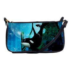 Orca Swimming In A Fantasy World Shoulder Clutch Bags