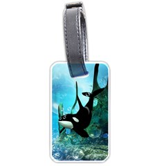 Orca Swimming In A Fantasy World Luggage Tags (Two Sides)