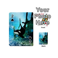 Orca Swimming In A Fantasy World Playing Cards 54 (Mini)