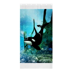Orca Swimming In A Fantasy World Shower Curtain 36  x 72  (Stall)