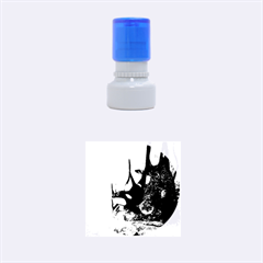 Orca Swimming In A Fantasy World Rubber Round Stamps (small)