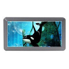 Orca Swimming In A Fantasy World Memory Card Reader (Mini)