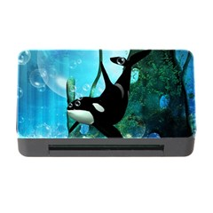 Orca Swimming In A Fantasy World Memory Card Reader with CF