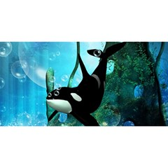 Orca Swimming In A Fantasy World YOU ARE INVITED 3D Greeting Card (8x4)