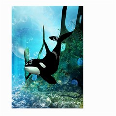 Orca Swimming In A Fantasy World Large Garden Flag (Two Sides)