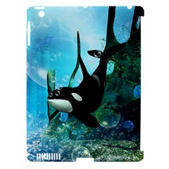 Orca Swimming In A Fantasy World Apple iPad 3/4 Hardshell Case (Compatible with Smart Cover)