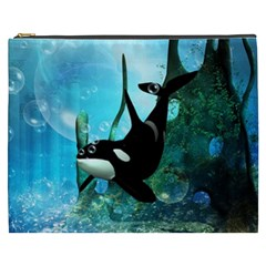 Orca Swimming In A Fantasy World Cosmetic Bag (XXXL)