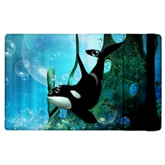 Orca Swimming In A Fantasy World Apple iPad 2 Flip Case