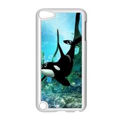 Orca Swimming In A Fantasy World Apple iPod Touch 5 Case (White)