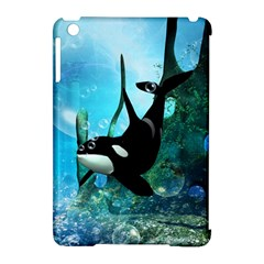 Orca Swimming In A Fantasy World Apple iPad Mini Hardshell Case (Compatible with Smart Cover)