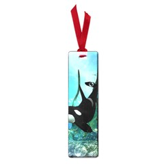 Orca Swimming In A Fantasy World Small Book Marks