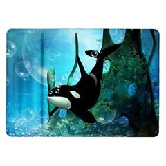 Orca Swimming In A Fantasy World Samsung Galaxy Tab 10.1  P7500 Flip Case