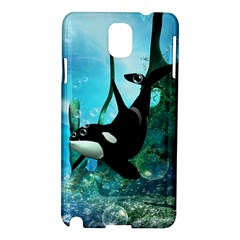 Orca Swimming In A Fantasy World Samsung Galaxy Note 3 N9005 Hardshell Case