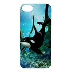 Orca Swimming In A Fantasy World Apple iPhone 5S Hardshell Case